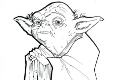 Chris Caniano Remarked Yoda Sketch