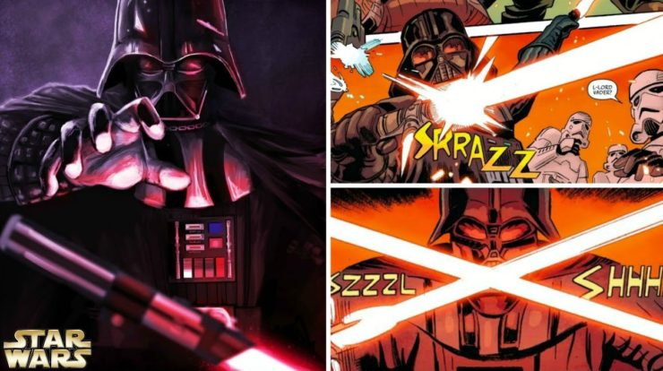 how darth vader used the lightsaber of an ancient sith lord star wars