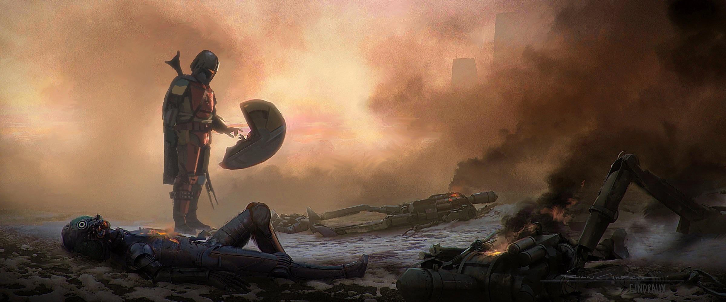 19 Beautiful Star Wars The Mandalorian TV Series Concept Art.